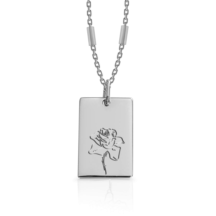JUNE / Rose - Silver (Rhodium Plated)