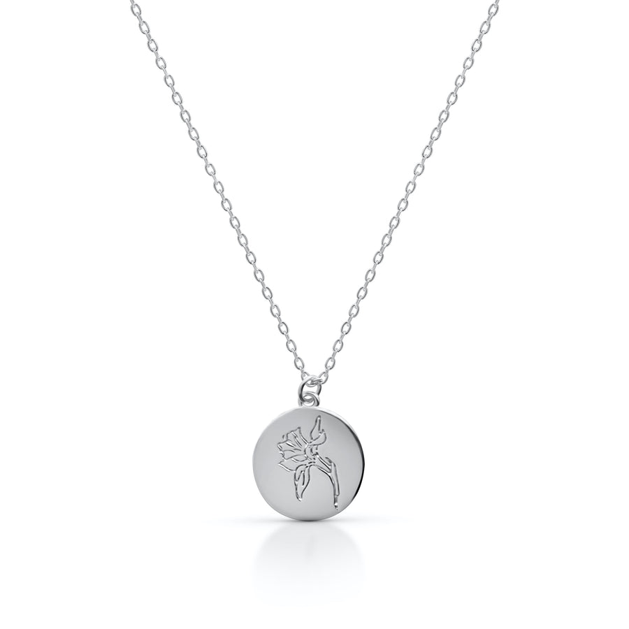 Petite MARCH / Daffodil - Silver (Rhodium Plated)