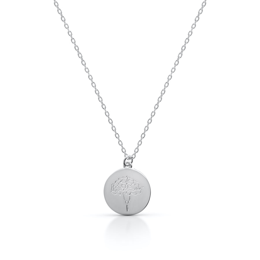 Petite JANUARY / Carnation - Silver (Rhodium Plated)