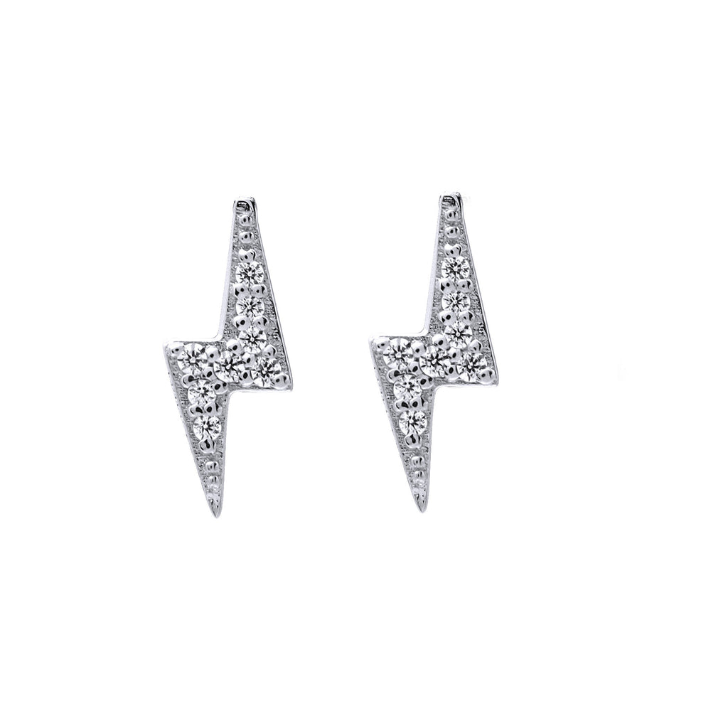 Bolt Studs - Silver (Rhodium Plated)