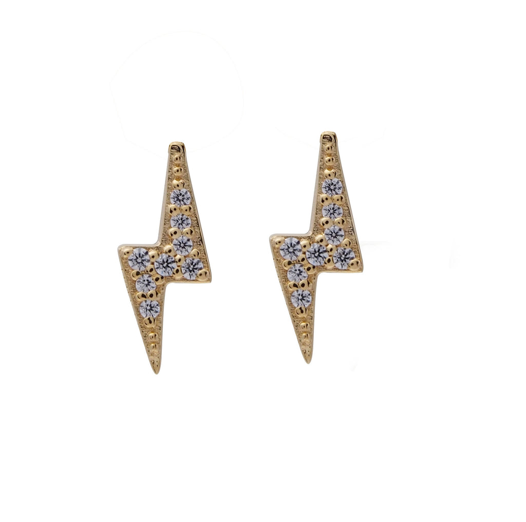 Bolt Studs - Yellow Gold