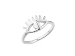 Cleopatra Ring - Silver (Rhodium Plated)