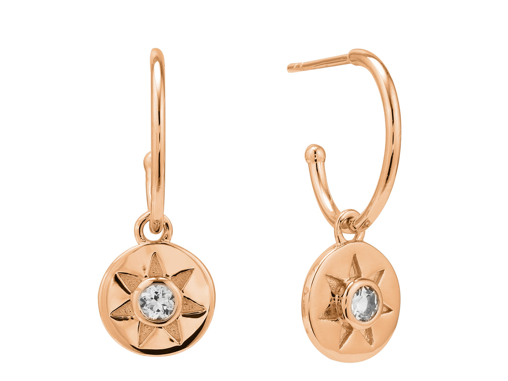 Arinna Earrings - Rose Gold