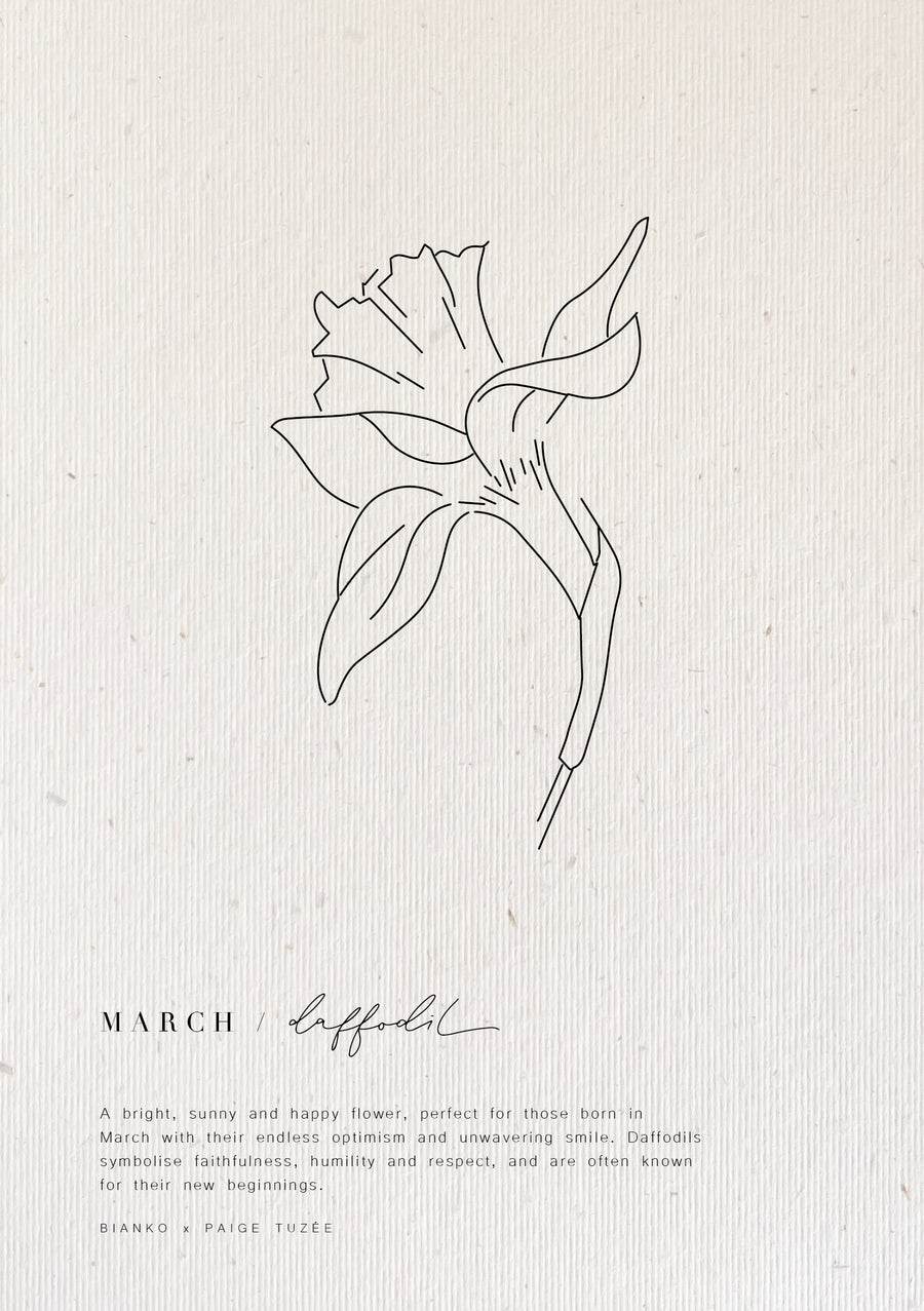 March / Daffodil - Limited Edition Birth Flower A5 Print