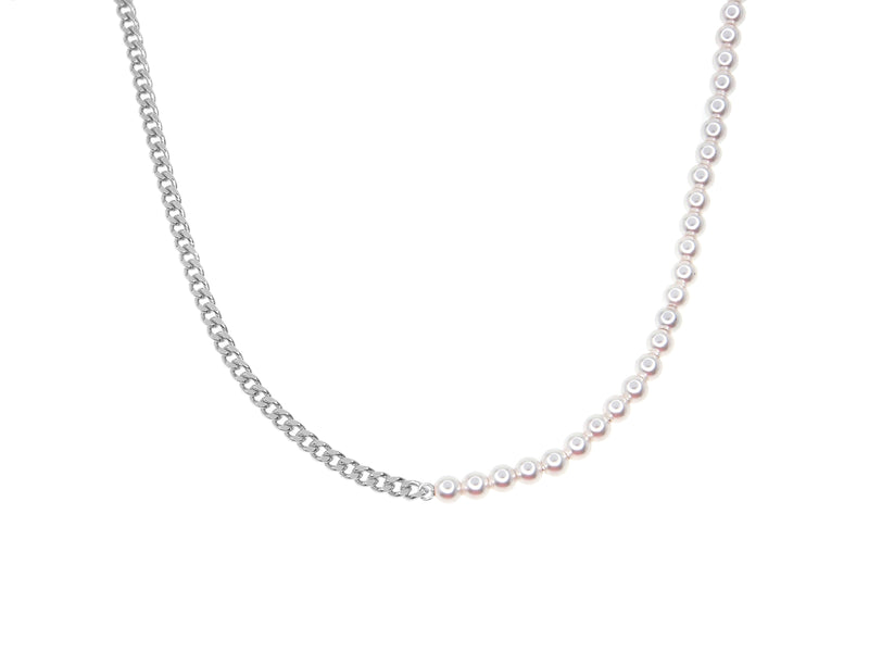 Lover Necklace - Silver (Rhodium Plated)