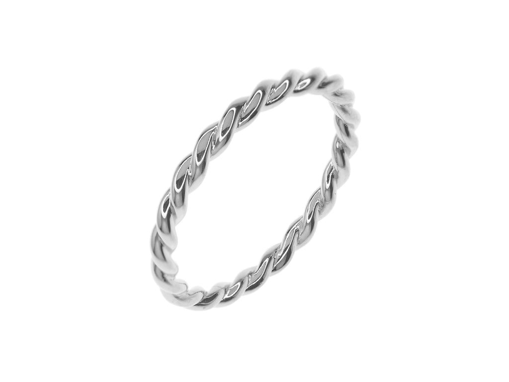 Twist Ring - Silver (Rhodium Plated)