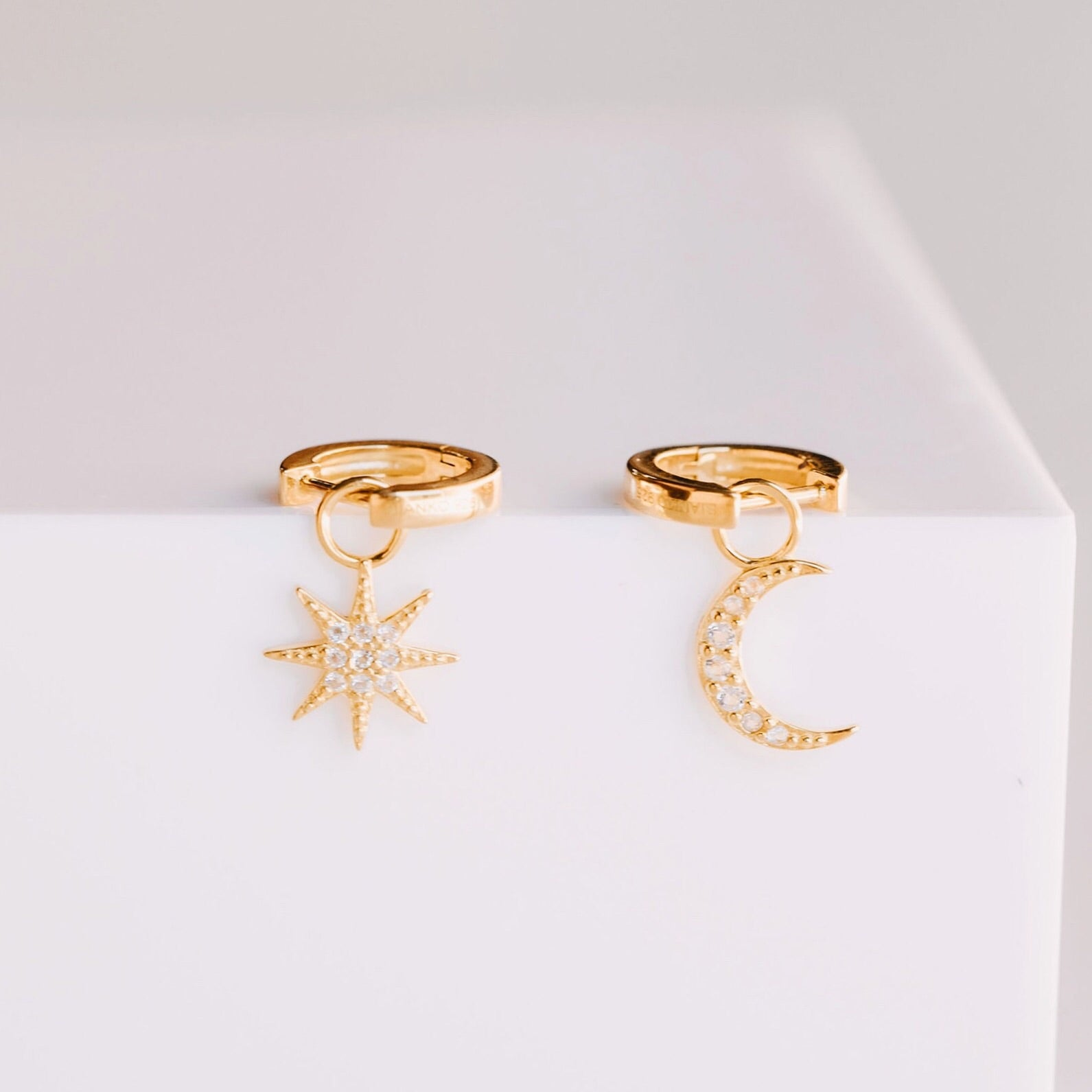 Pave Sun Charm - Yellow Gold