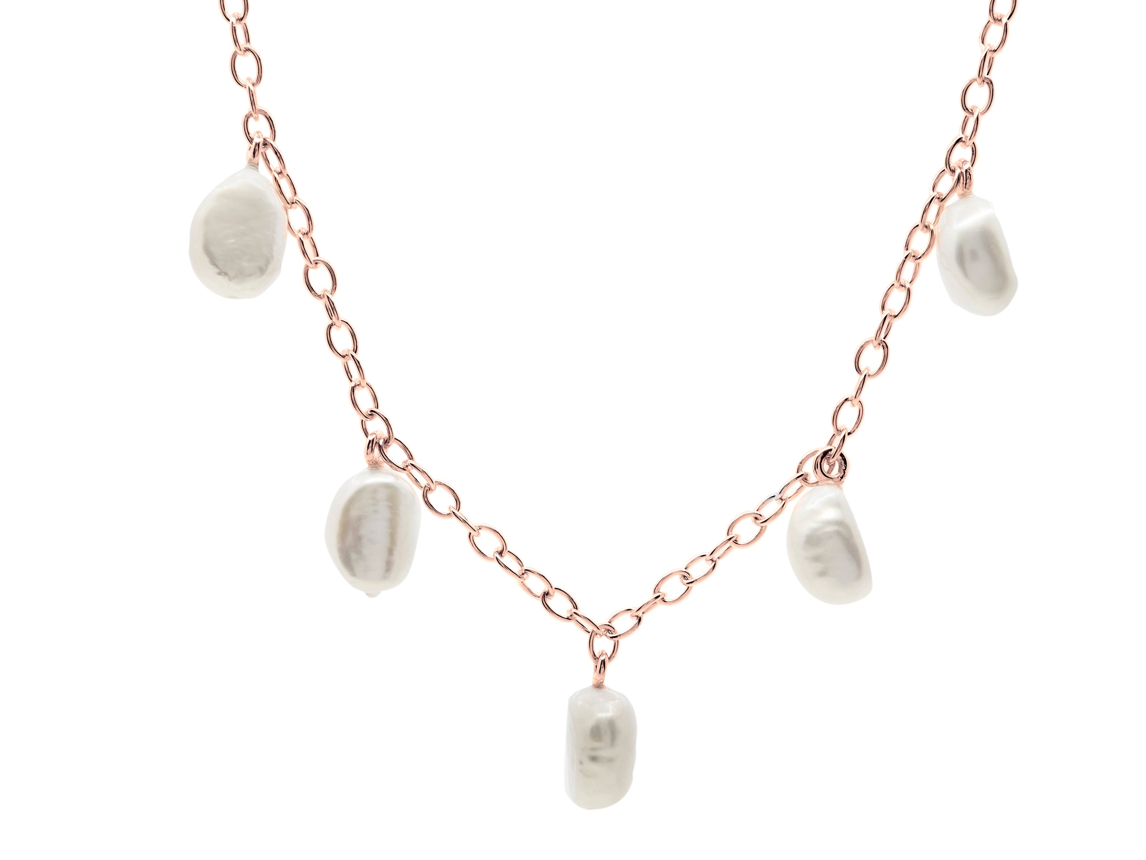 Cable Beach Necklace - Rose Gold
