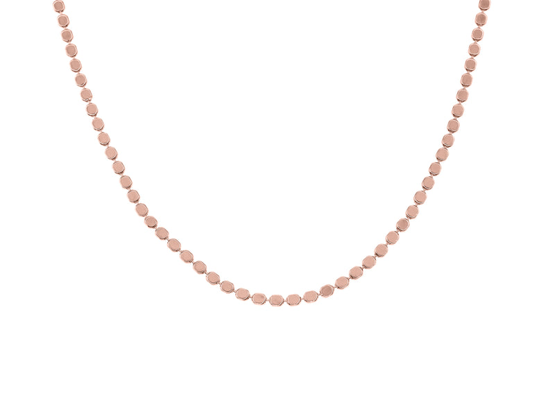 El Questro choker necklace, sterling silver, rose gold plated
