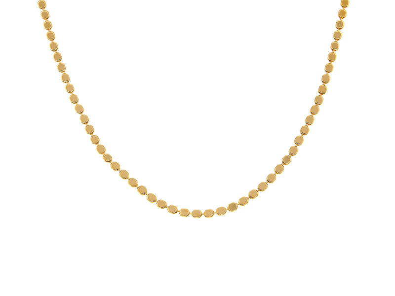 El Questro choker necklace, sterling silver, yellow gold plated