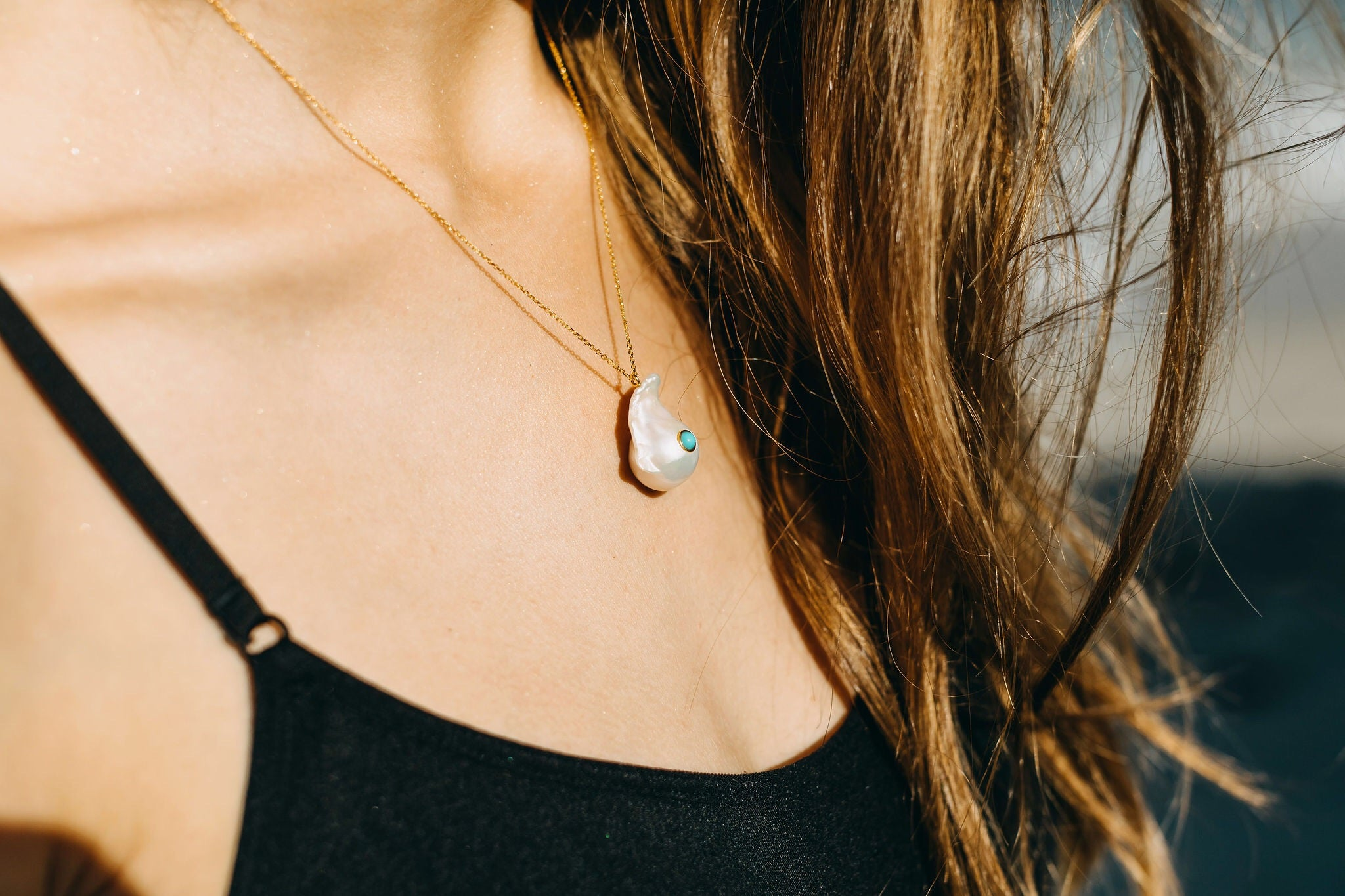 Turquoise Bay Necklace - Yellow Gold