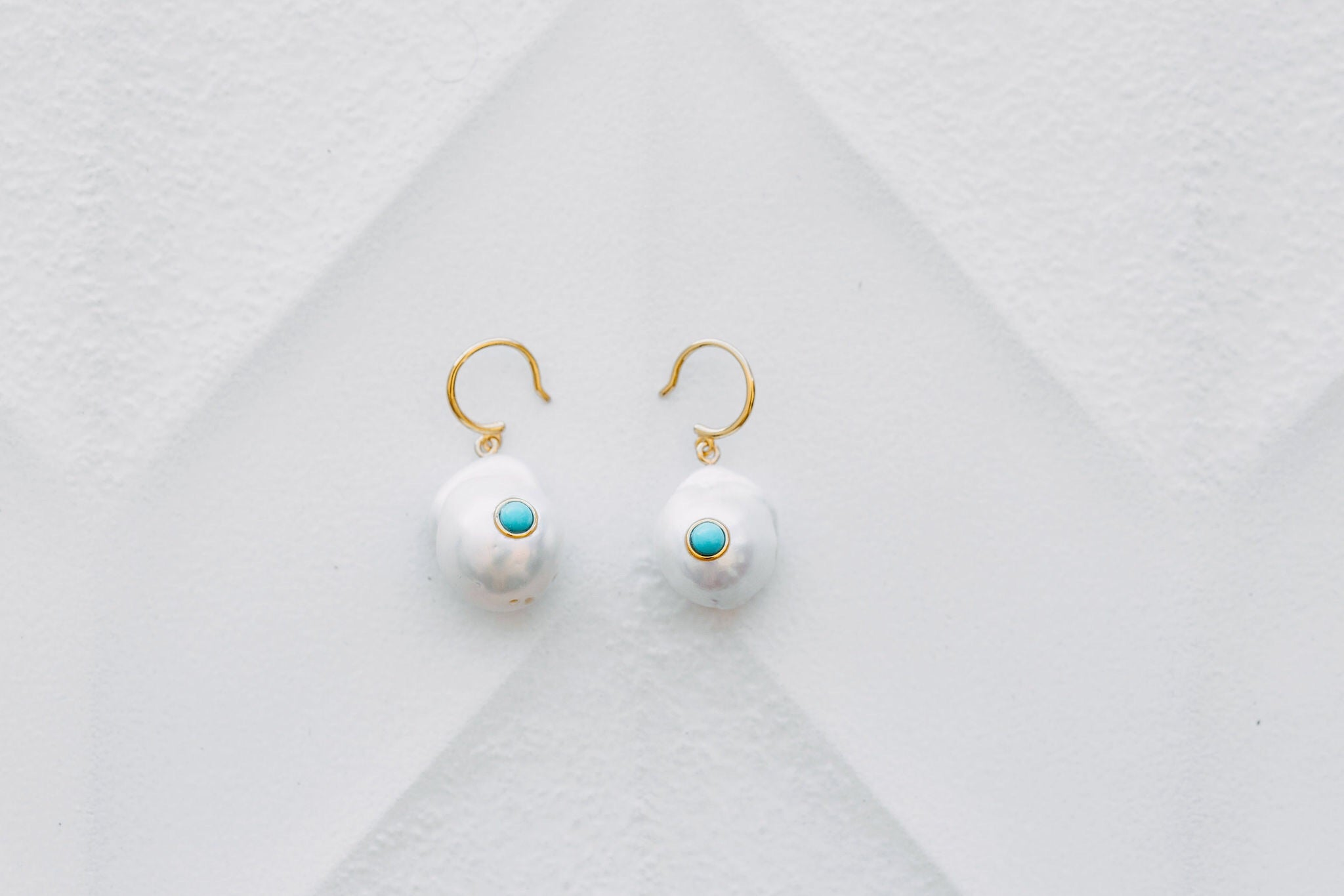 Turquoise Bay Earrings - Yellow Gold