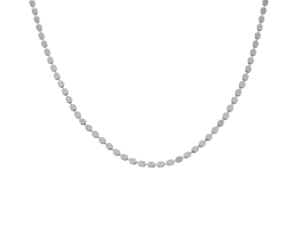 El Questro choker necklace, sterling silver, rhodium plated