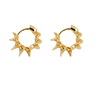 Spiral Hoops - Yellow Gold