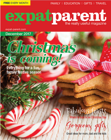 expat parent magazine cover page