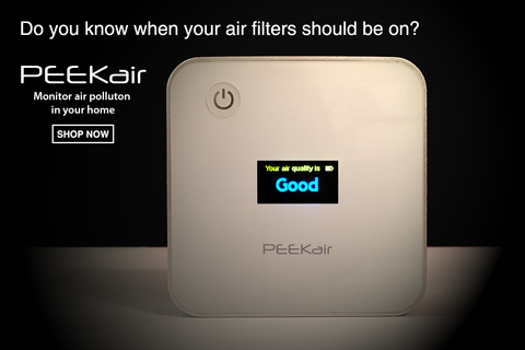 PEEKair PM2.5 air quality monitor