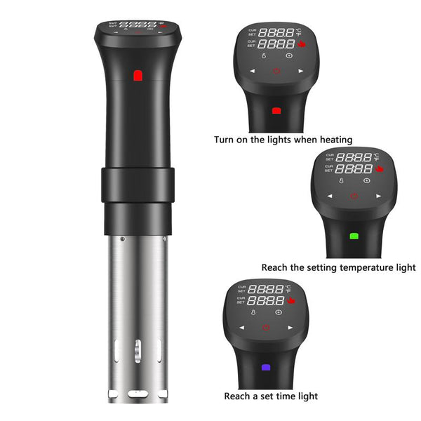 Sous Vide Precision Cooker and Timer, Sous Vide Cookbook Included