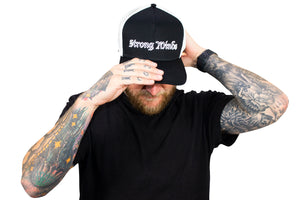 Strong Minds Black and White Otto Hat