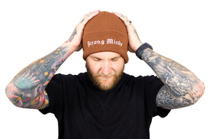 Strong Minds Brown Beanie
