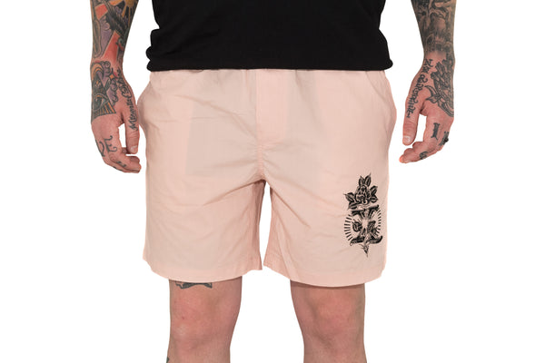 Beach Shorts - Pale Pink
