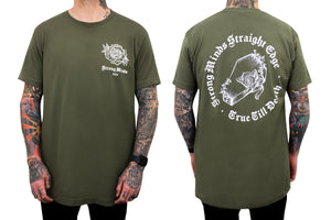 Till Death Coffin Green Tee