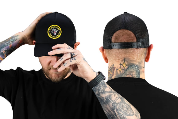 True Till Death Black Trucker Hat
