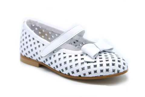 White Ballerina with holes.- PG - Karaso Flex. Shoes Made in Spain - 1