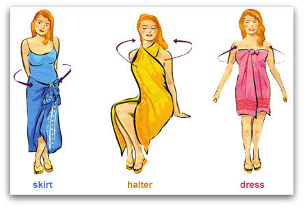 How to tie sarong | 3 options | skirt halter dress | Holley Day