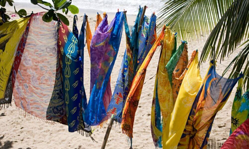sarongs-line-drying