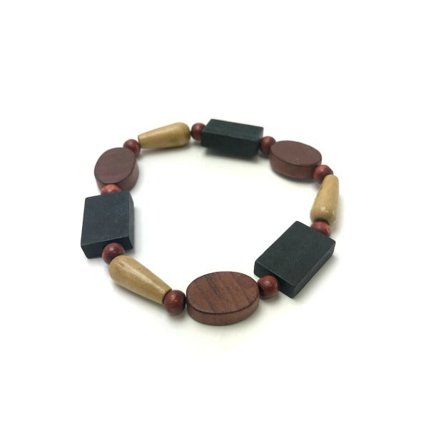 ladies wood bead bracelet