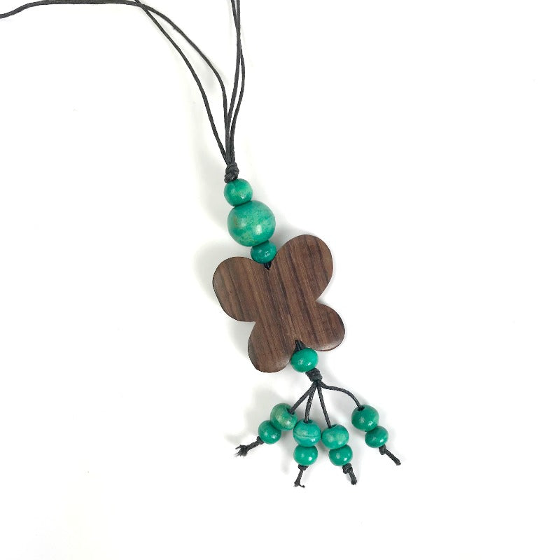 butterfly-pendant-necklace-green-tassel-beads