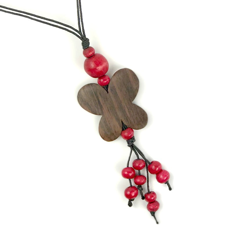 butterfly-pendant-necklace-crimson-tassel-beads