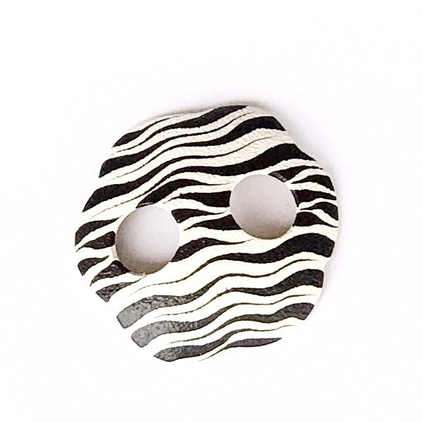 Sarong buckles - zebra print - black and white flower - Holley Day
