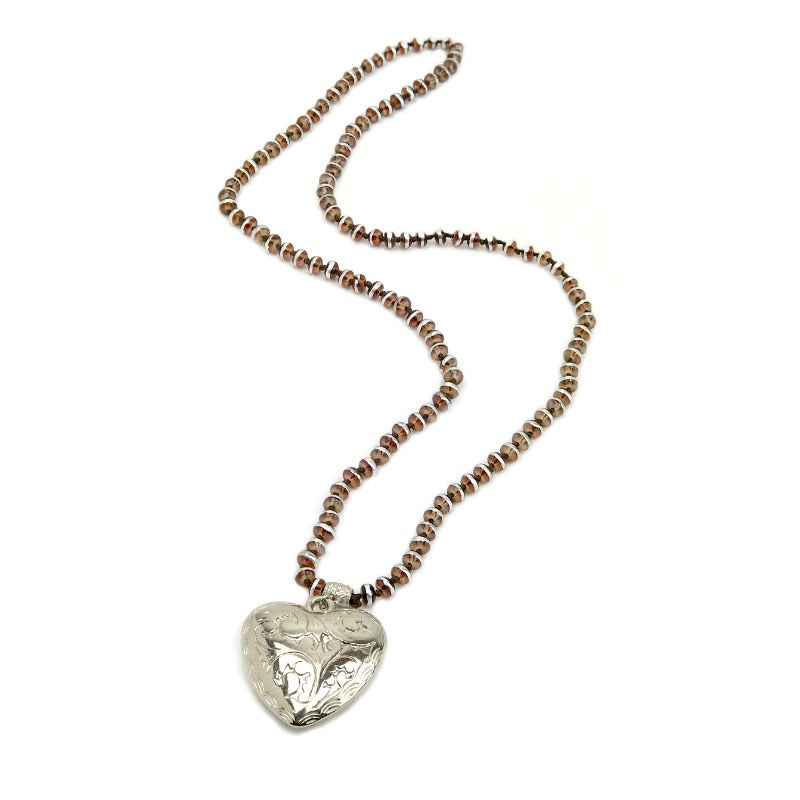 heart-pendant-necklace-silver-brown-beads
