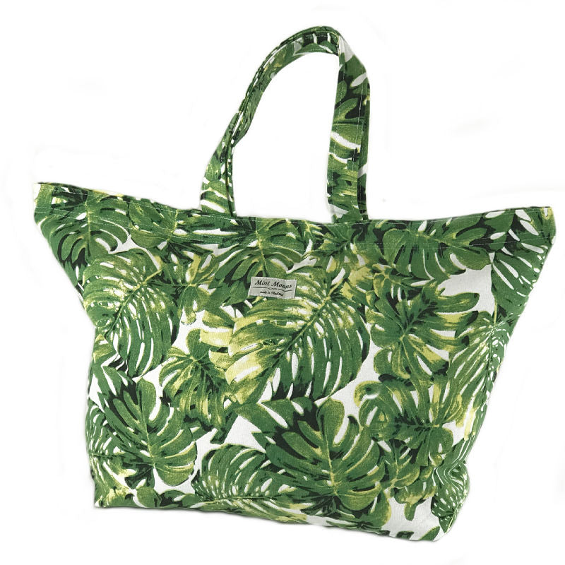Beach bag - palm leaf print design