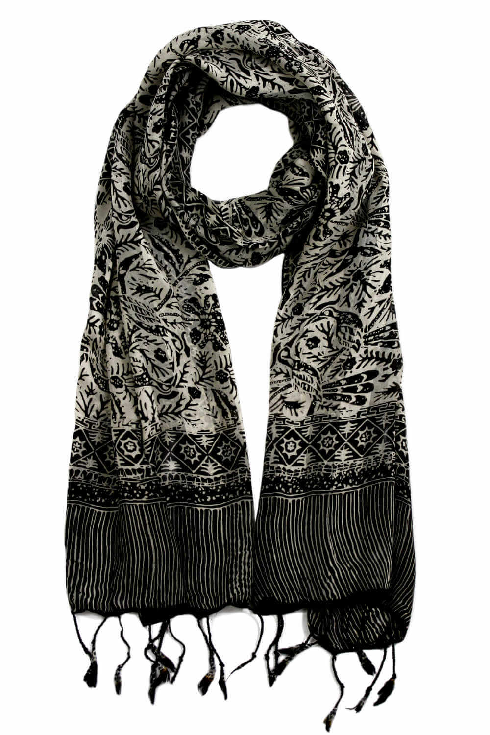 black-silk-scarf-floral-diamond-design