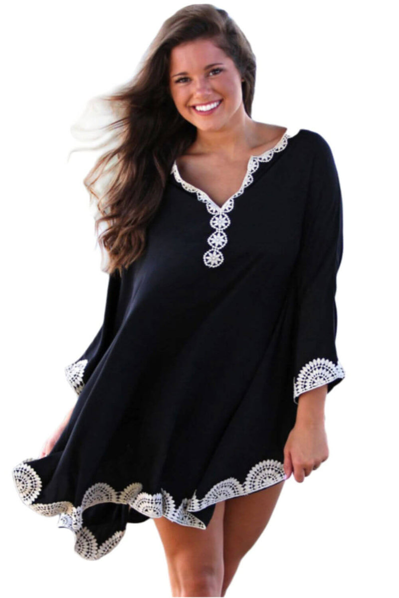 Embroidery Kaftan Top