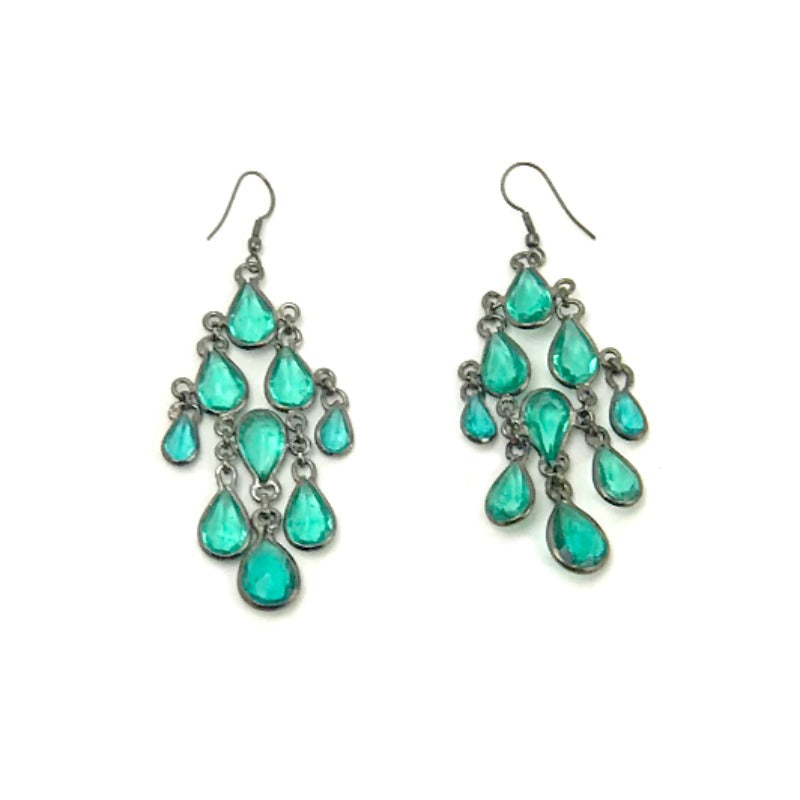 Chandelier-drop-earrings-emerald-green-beads