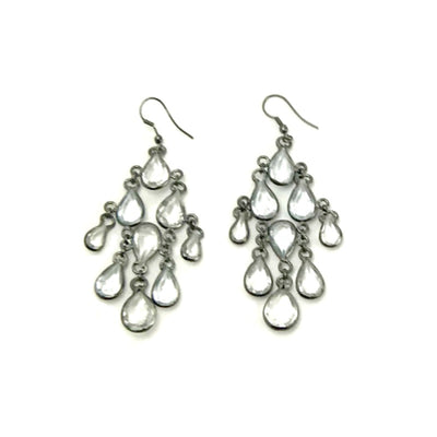 Chandelier-drop-earrings-clear-beads