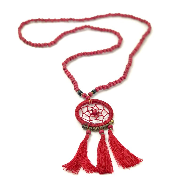 dreamcatcher-pendant-necklace-red-wood-beads-tassel