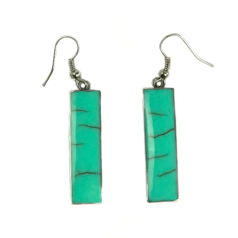 Drop-earrings-green-rectangle