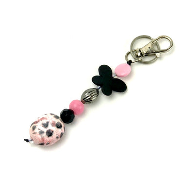 handbag-charm-keyring-black-butterfly-beaded