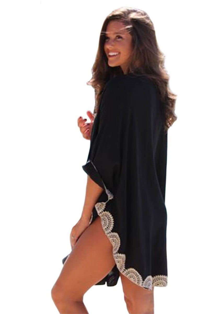 Black-kaftan-top-white-embroidery-trim