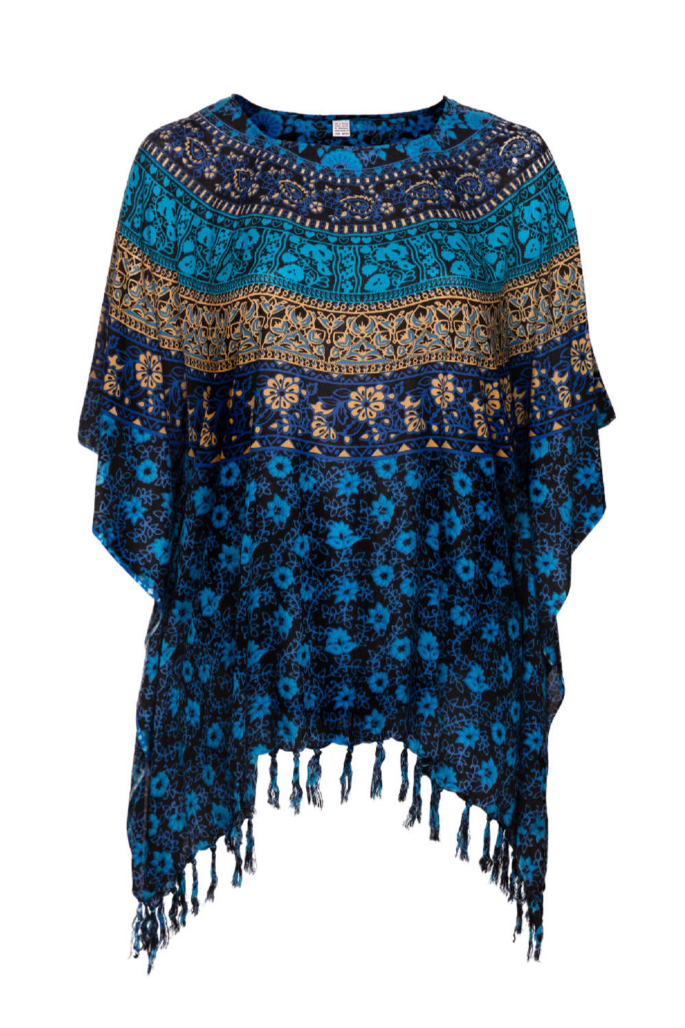 kaftan-top-plus-size-blue-floral-mandala