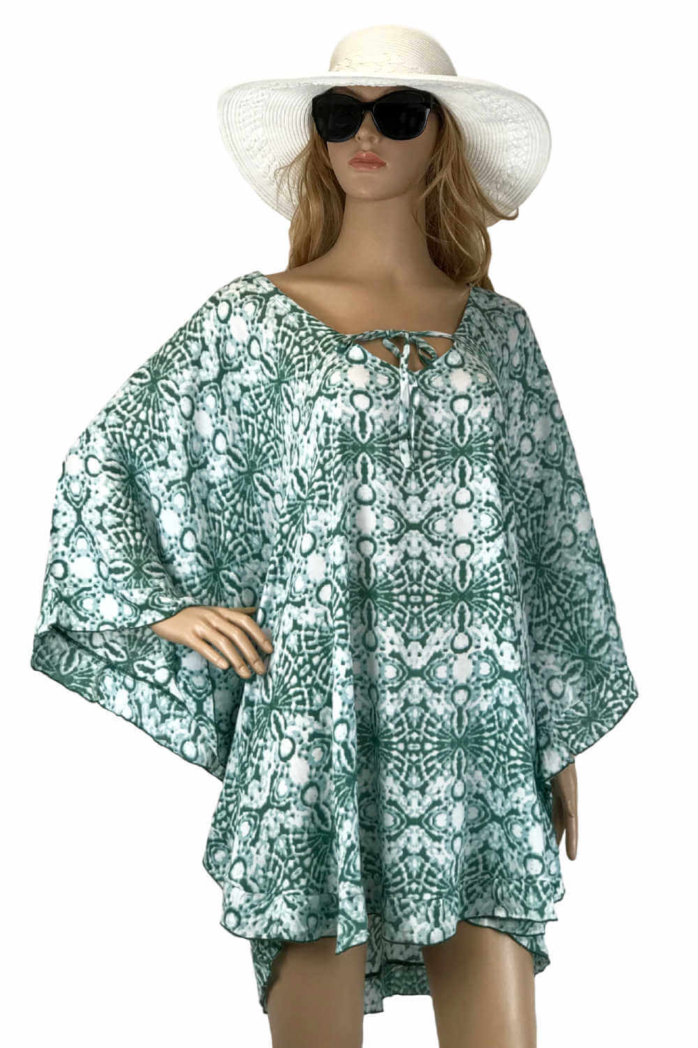 kaftan-top-geometric-design-sea-green