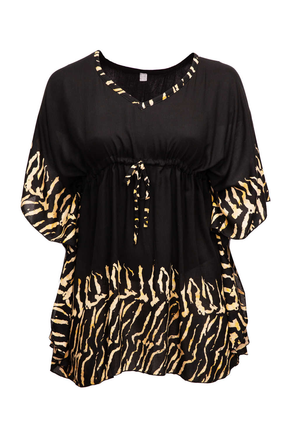 zebra-print-kaftan-top-black-caramel-brown