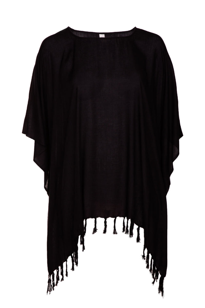 ladies-beach-kaftan-top-plus-size-black