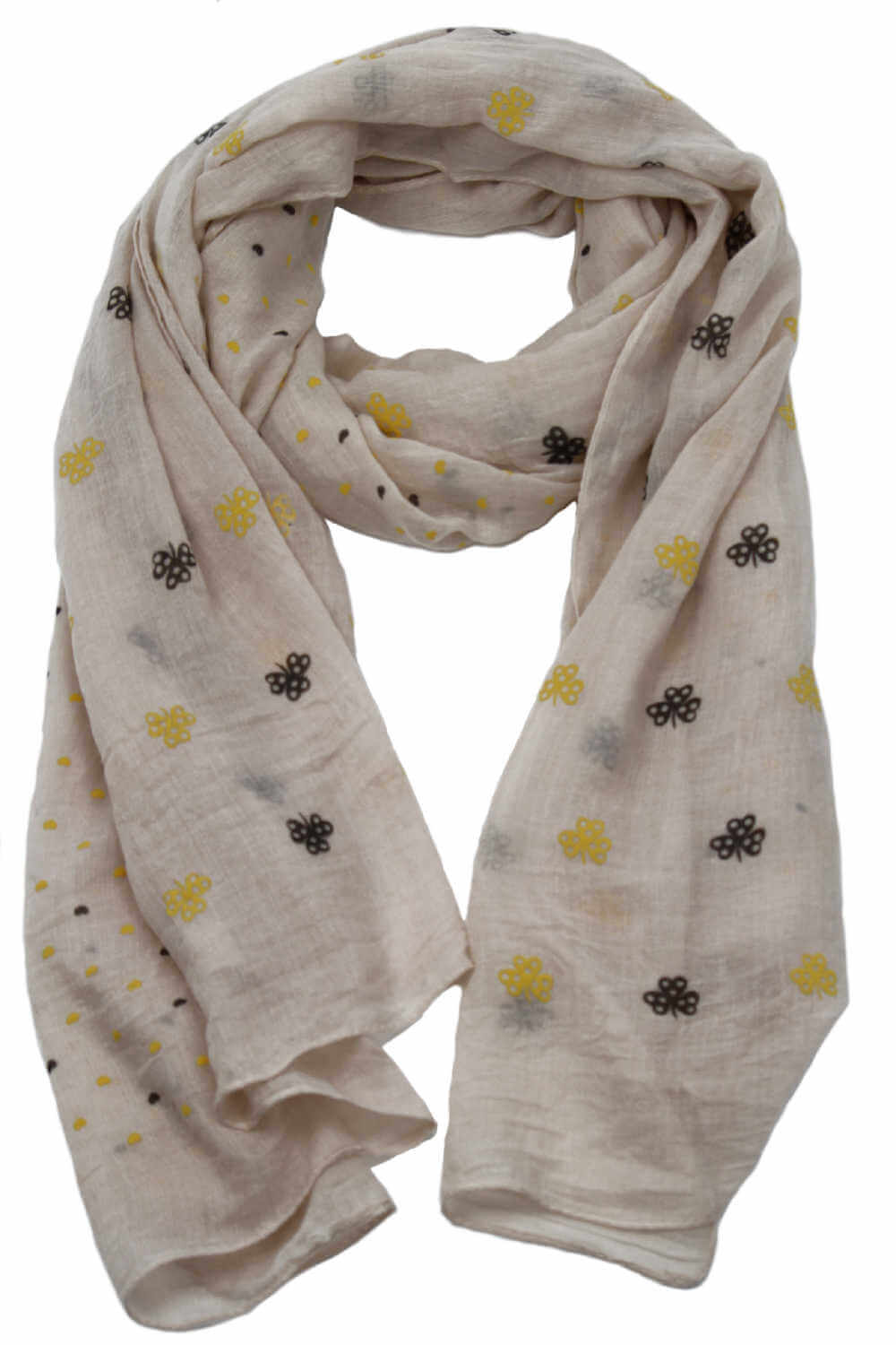 Ladies-scarf-blue-floral-heart-design