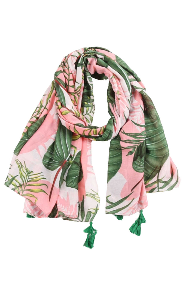 Pink Palm Scarf