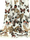 Shawl Wrap - butterfly design - brown tan black on white
